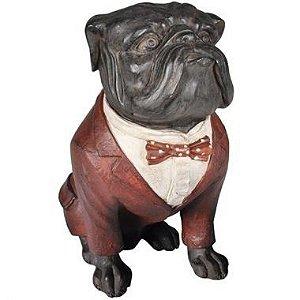 Cachorro Decorativo - Bulldog Inglês em Resina