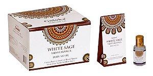Oleo Aromatizador Essencial Indiano White Sage Salvia Branca - Goloka