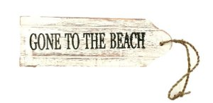 PLACA GONE TO THE BEACH 22CM