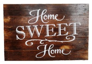 PLACA HOME SWEET HOME NATURAL