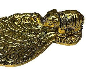 Incensario de Aluminio Elefante Dourado
