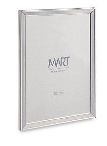 PORTA-RETRATO PRATA EM METAL - 10X15cm