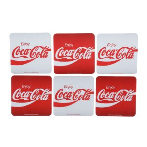 SET C/6PCS PORTA COPOS CORTICA COCA-COLA ENJOY