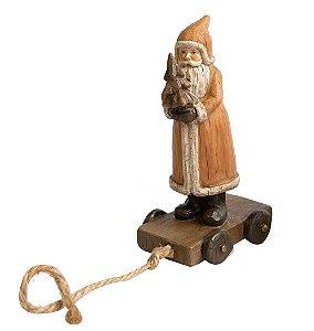 Enfeite Natalino Adorno Prettie Papai Noel em resina