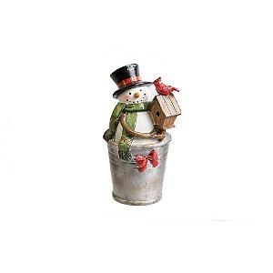 Adornos Pretties COLOR Boneco de Neve em resina
