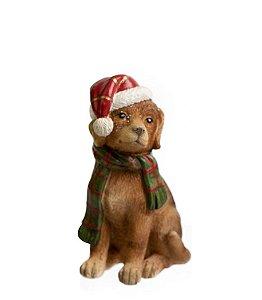Adornos Pets Pretties Cachorro Amarelo c/ Cachecol