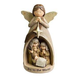 Anjo Sagrada Familia Pretties em Resina