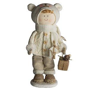 Menino urso Bella - Nd/ch - 32 cm