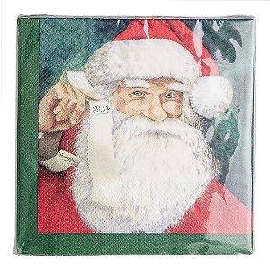 Guardanapo Santa Claus - vd/vm - 33 cm E.ime