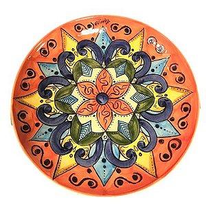 Prato Decorado em cerâmica Espanhol de Talavera  33cm