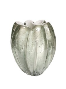 Vaso decorativo Branco Jelly em Murano