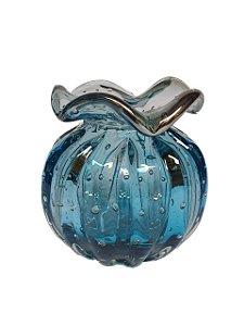 Vaso de Decorativo Trouxinha em Murano - Aquamarine G