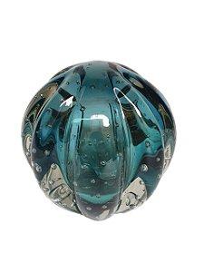 Bola Decorativa Azul Turquesa em Murano M