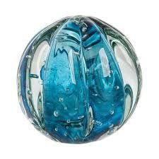 Bola Decorativa Aquamarine em Murano M