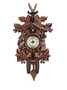 Miniatura Relógio Cuco Cervo Quartzo MDF