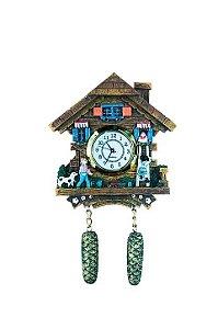 Miniatura Relógio Cuco Chalé do Sogro MDF