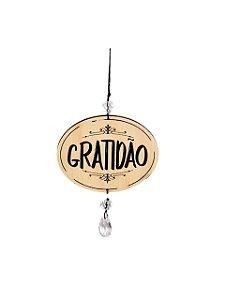 Mobile Preto e Cru Mini Gratidão
