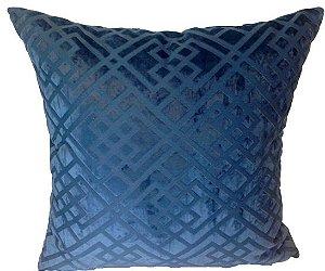Almofada Premium 50x50 Veludo Azul