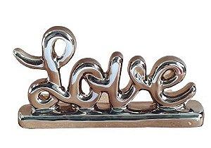 Escultura Mini Love em Ceramica Rose Gold