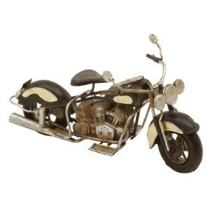 MOTOCICLETA DE METAL DECORATIVA