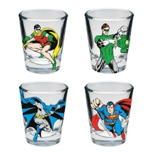 Kit 4 Copos De Shot Dc Comics - Good Boys