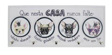PORTA-CHAVE QUE NESTA CASA... BICHOS