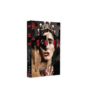 CAIXA LIVRO BOOK BOX SHE COLLAGE ART