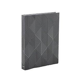 CAIXA LIVRO BOOK BOX METALIZADO GEOMETRIC
