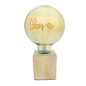 LUMINARIA MADEIRA LED LOVE TRANSPARENTE - 110V