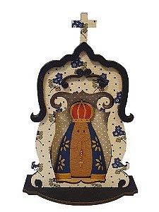 Oratorio em madeira Nossa Senhora Aparecida