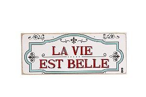 Quadro Box La Vie Est Belle 12X30cm