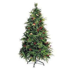 Árvore de Natal Com Cerejas, Pinhas E Galhos Cashmere SAN MARTIN VERDE 180CM
