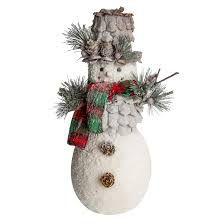 Boneco Snow Branco Com Cachecol e Chapéu 35 cm