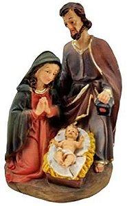 Sagrada Familia Presepio Em Resina
