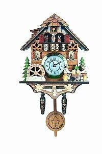 Miniatura Relógio Cuco Chale do chopp Quartzo MDF