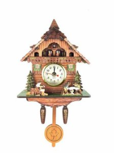 Miniatura Relógio Cuco CHALE LENHADORES Quartzo MDF