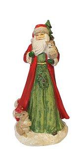 Papai Noel Pets Pretties com Saco de Presentes em Resina