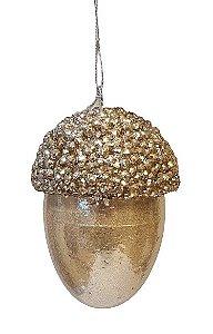 Bola Decorada Pinha Dourada