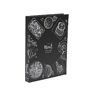 CAIXA LIVRO BOOK BOX METALIZADO CARNE (MEAT )