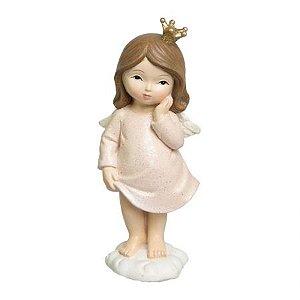 Menina Anja Decorativa em Resina