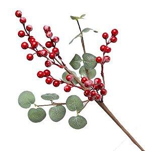Galho Pick Berry Vermelho 45cm