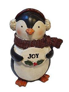 Pinguim em resina Joy