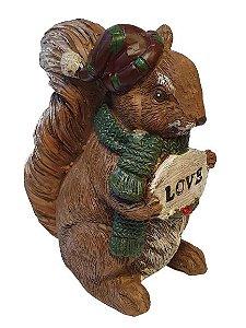 Esquilo em resina Love