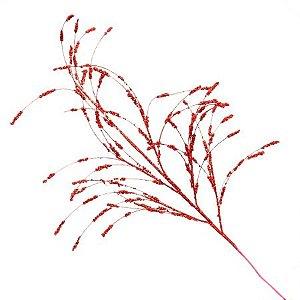 Galho Decorativo Vermelho 97cm