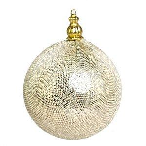 Bola Decorada Dourada com 3 unidades