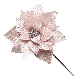 Poinsetia Decorativa Rosa 30cm