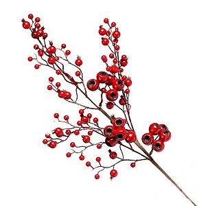 Galho Berry Vermelho 64cm