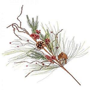 Galho natural cereja - 80 cm