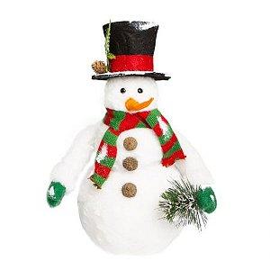 Boneco de Neve Cachecol Branco e cartola