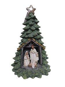 Arvore Sagrada Familia com iluminacão